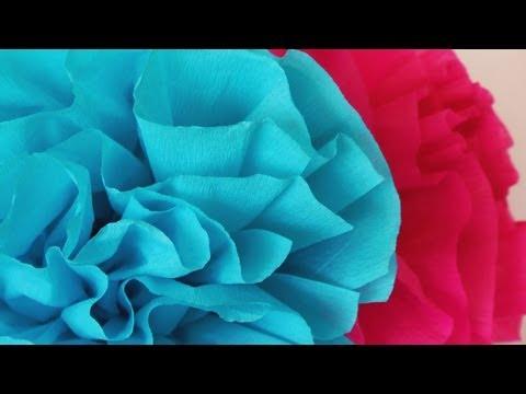 Manualidades - Flor de papel crepe -