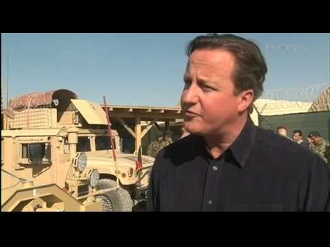 David Cameron Pays a Surprise Visit to Troops in Afghanistan 16.12.13