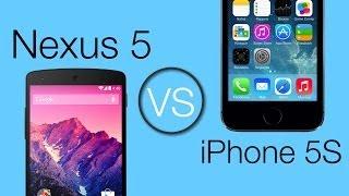 IPhone 5S VS Nexus 5 Comparatif Français (Design