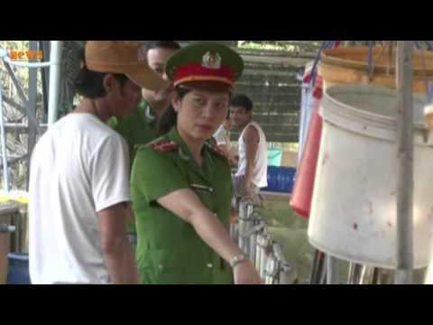 Bắt quả tang cơ sở bơm nước vào 130 con heo tại Biên Hòa, Đồng Nai