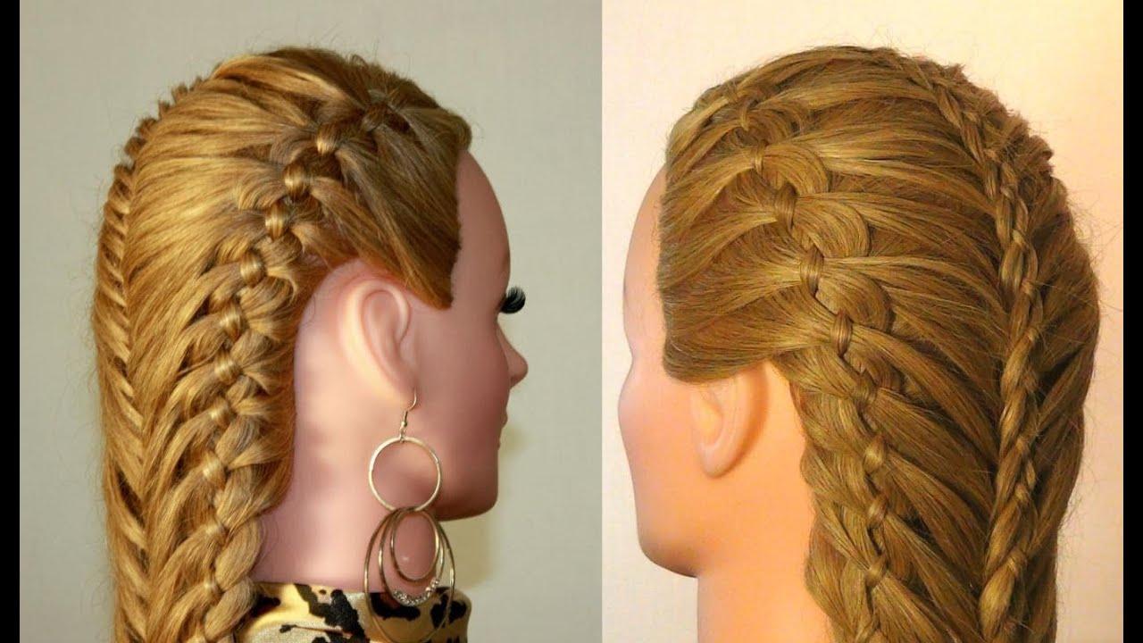 Причёски для длинных волос плетение кос фото