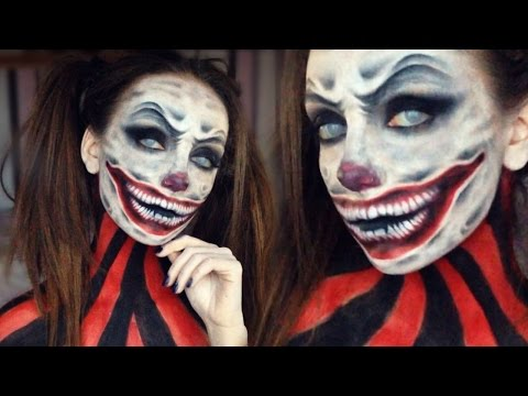 how to make scary clown makeup