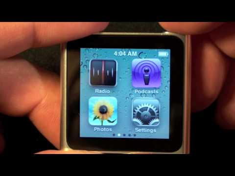 Apple iPod nano 2010 (6th Generation): Unboxing and Demo