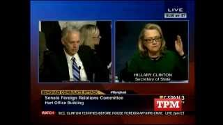 Hillary Clinton Erupts at Ron Johnson over Benghazi Attack