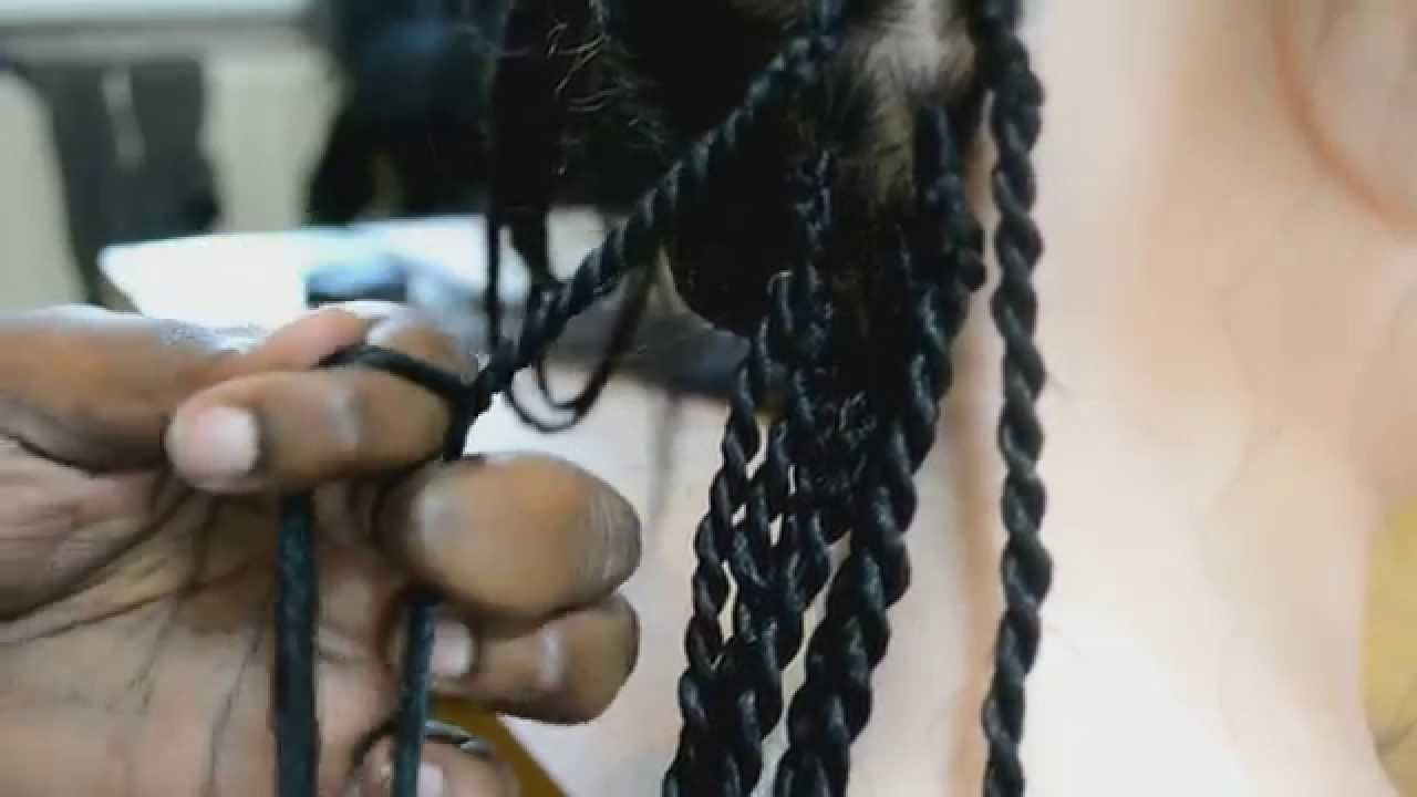 How to do Senegalese Twists (Kanekalon/Rope/kinky) - YouTube