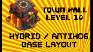 Clash Of Clans Best TH10 Hybrid War Anti Hog Base Layout