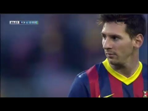 Barcelona vs  Osasuna 7-0 All Goals & Highlights | 16.03.2014 Leo Messi Show
