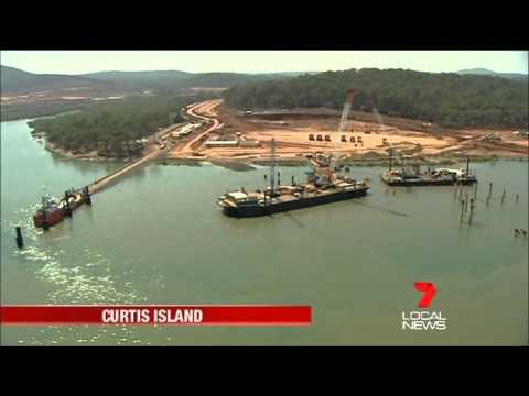 Curtis Island LNG Plant Approved - Seven Local News Rockhampton (2013)