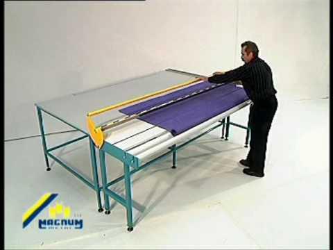 Sani USA .com Roller Shade Fabric Cutting Table - Manual Operation Magnum RBH 01