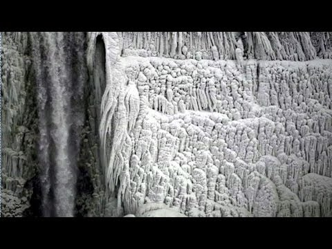 ICE COVERED NIAGARA FALLS - BBC NEWS