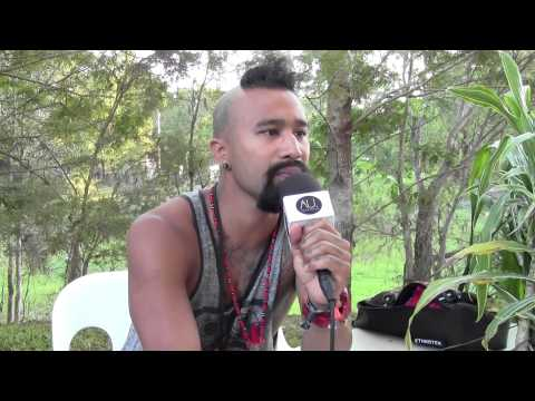 Nahko Bear (Medicine for the People) Interview at Bluesfest Byron Bay (Australia)