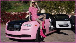 MY NEW PINK ROLLS ROYCE WRAITH... CAR TOUR! | Jeffree Star
