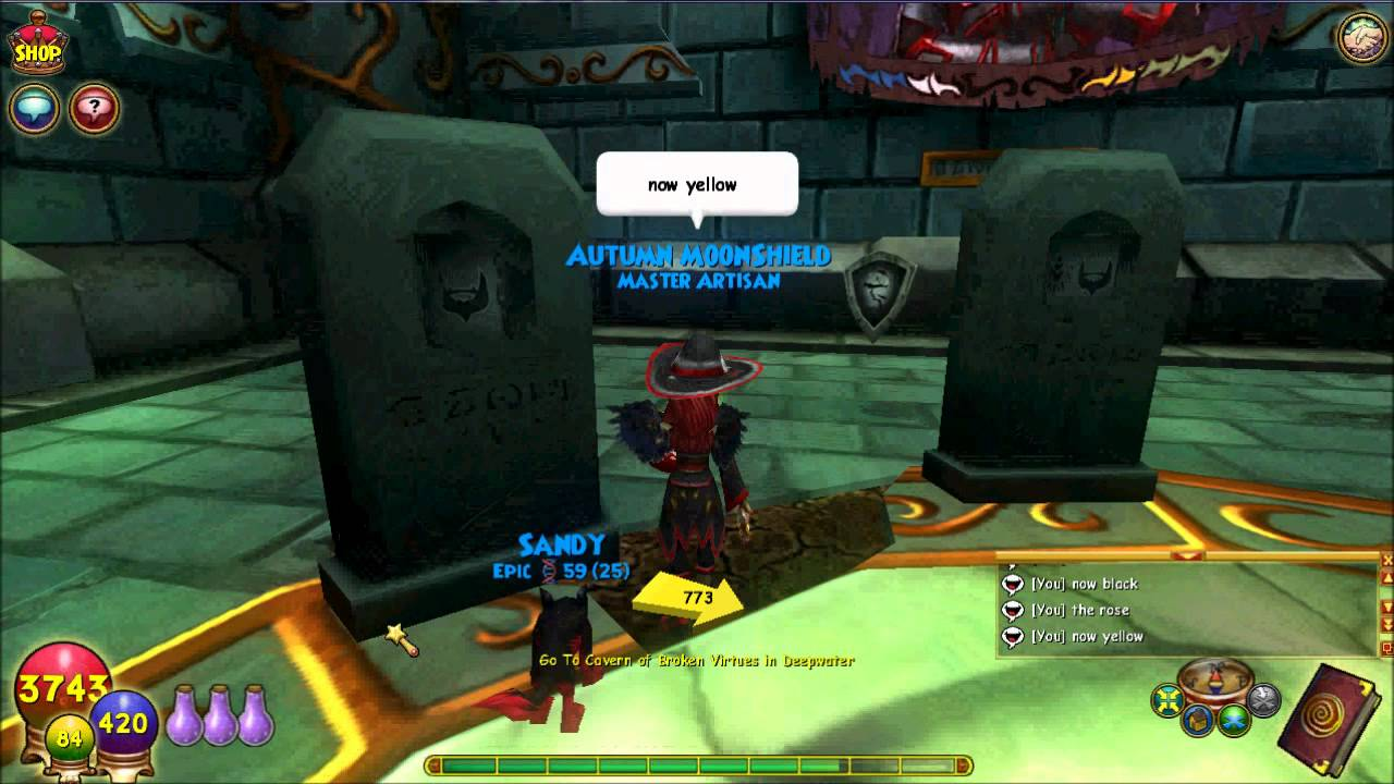 wizard101 nameless knight puzzle