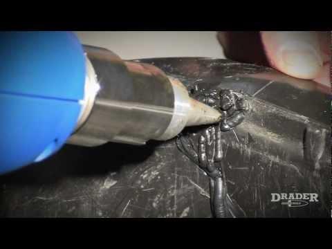 (ES) Reparacion de Plasticos - Como soldar plasticos para reparar un contenedor de basura