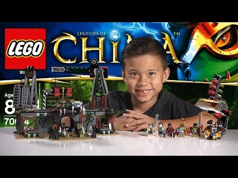 CROC SWAMP HIDEOUT - LEGO Legends of Chima Set 70014 Time-lapse Build, Unboxing & Review