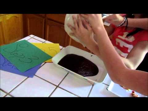 How to make M&M Brownies, Us showing the steps into making M&M brownies (Yum!).
