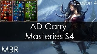 League Of Legends New Masteries Season 4 AD Carry / Jinx