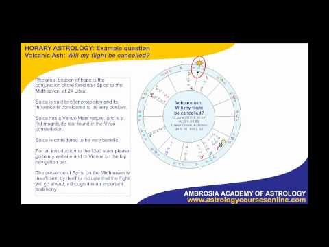 Sample horary astrology question: Will flight be cancelled?
