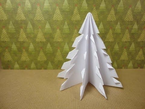 DN1: Cómo hacer un Abeto de Papel. Tutorial árbol de Navidad y ...