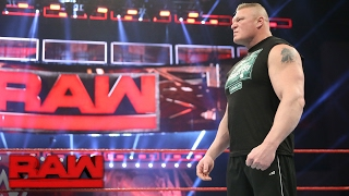 Brock Lesnar wants to battle Goldberg one last time at WrestleMania 33: Raw, Jan. 30, 2017