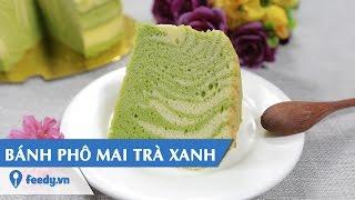 Hướng dẫn cách làm Bánh phô mai trà xanh với #Feedy