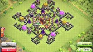 Clash Of Clans BEST ANTI HOGRIDER Base!