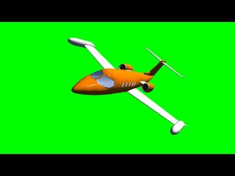 Lear Jet Flyby - free green screen