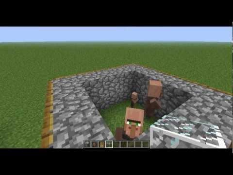 Minecraft 1.8.1 + Lower Versions - Breeding Villager Tutorial - DavidiansLair