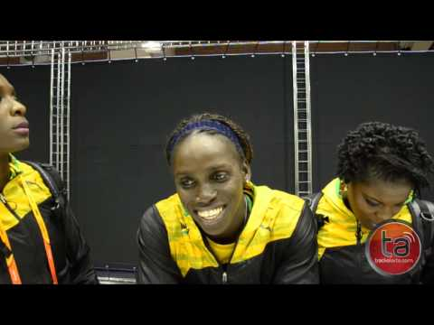 Jamaica Women's 4x100m Relay Team Celebrates National and Championships Record in Moscow