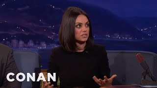 Mila Kunis' 3-Year-Old Daughter Is Too Logical To Believe In Santa Claus  - CONAN on TBS