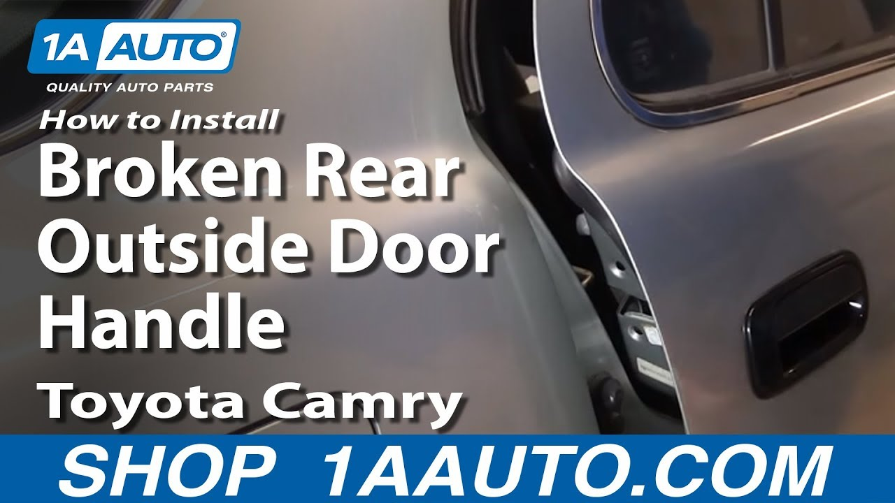 How To Install Replace Broken Rear Outside Door Handle
