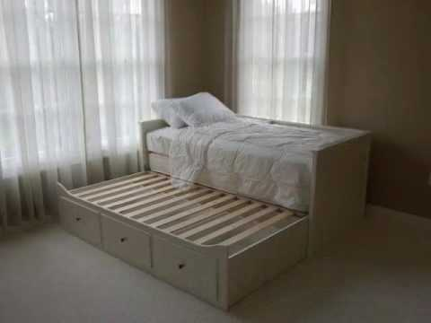 ikea trundle bed youtube. Black Bedroom Furniture Sets. Home Design Ideas