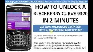 How To Unlock A Blackberry Curve 9320 Using A Mep Mep2