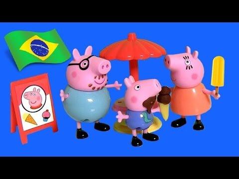 Peppa Pig Carrinho de Sorvetes | Carrito de Helados | Peppa Pig Ice Cream Van Theme Park Nickelodeon