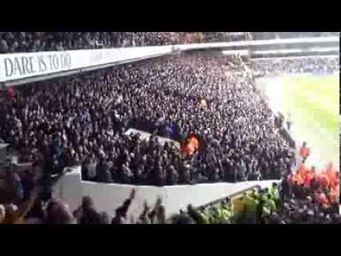20.02.2014 Dnipro Dnipropetrovsk  v Tottenham fulltime-Tottenham Fans