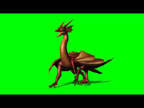 Dragon walk - green screen effects