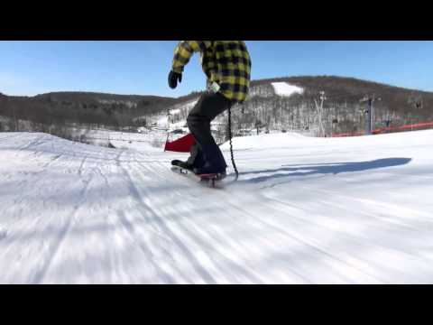 Grey Area Snowskate Race : Rookie Vs Phil raw run