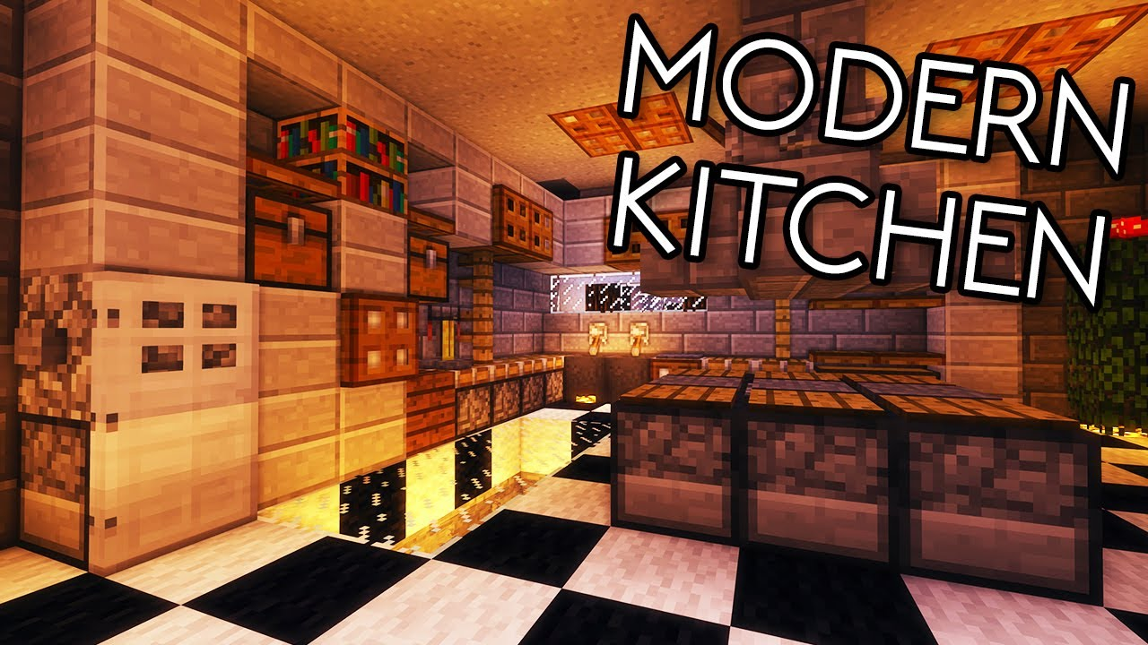 Minecraft Tutorials Minecraft Tutorial 17 How To Build A Modern Kitchen Hd Youtube