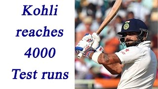 Virat Kohli achieves two landmarks in Test Cricket..