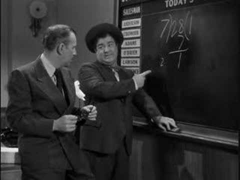 abbott and costello 13 x 7 is 28 youtube