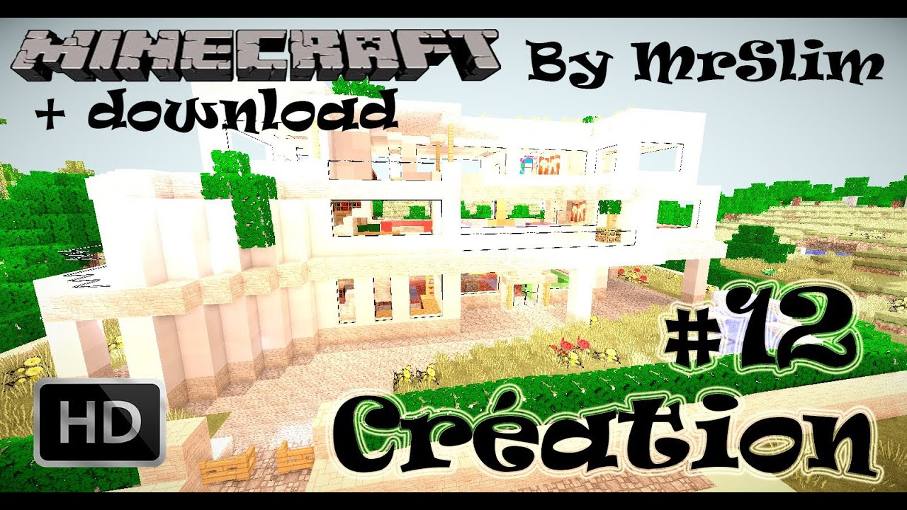 Cr Ation Maison Moderne Minecraft Download 3d Youtube