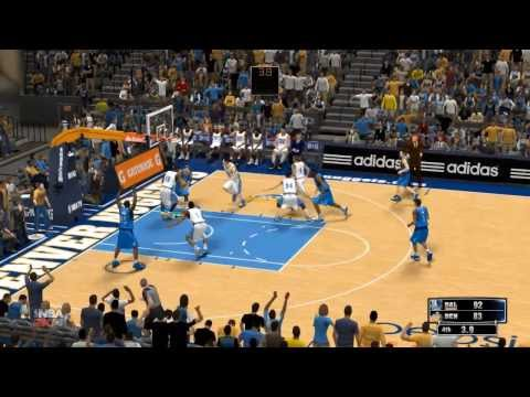 NBA 2K14: Dallas Mavericks vs Denver Nuggets highlights (Mavs Season game 14)