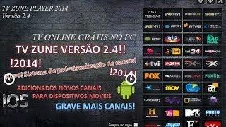 TV Zune A Nova Versão 2014