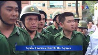 Công an giải tán, bắt giữ nhiều người biểu tình ở Việt Nam