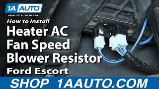 How To Install Replace Heater AC Fan Speed Blower Resistor