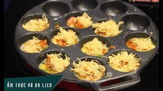 Bánh Trứng cút nướng chà bông - Món ăn đường phố ngon không cưỡng nổi