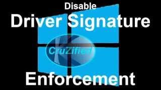 Windows 8 Disable Driver Signature Enforcement Cruzified