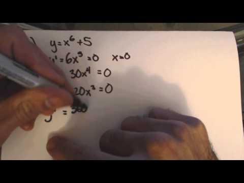 Nth Derivative Test Problem 1c