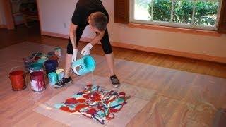 Cassandra Tondro, Abstract Painting Using Leftover House