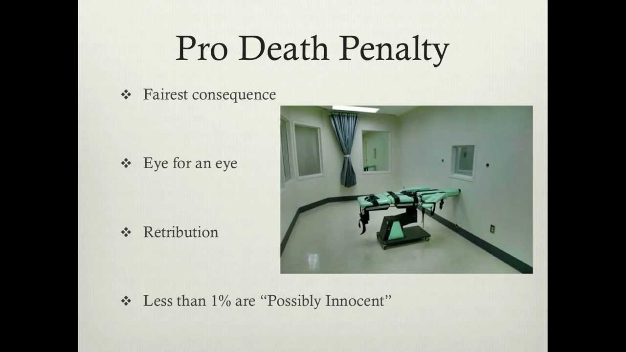 an argument in favor of death penalty as an effective punishment Death penalty: death as punishment for a crime called also capital this debate will be about the death penalty the third argument in which i will provide.